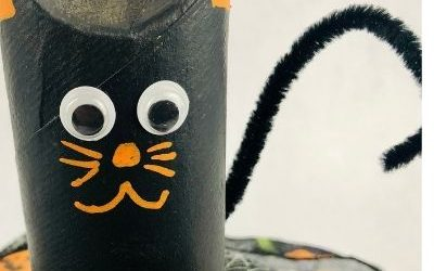 black cat craft for halloween