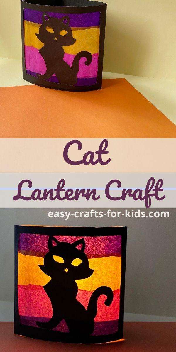 Cat Lantern Craft for Halloween