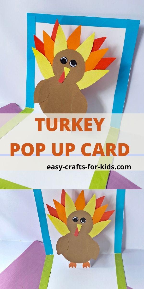 DIY Thanksgiving Turkey Pop Up Card for Kids