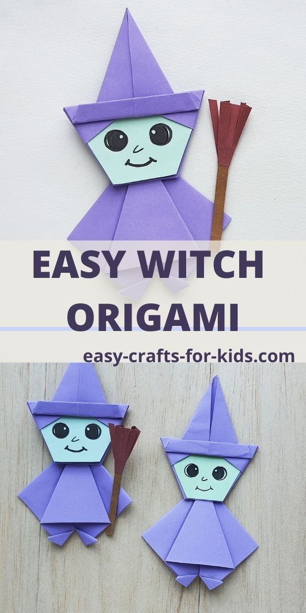 Easy Witch Origami for Halloween