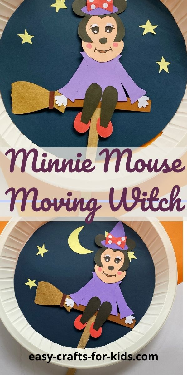 Minnie Mouse Halloween Craft with Paper Plate