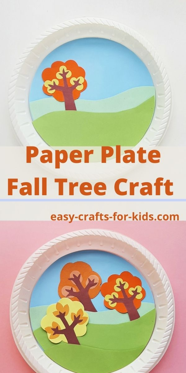 Paper Plate Fall Trees Craft