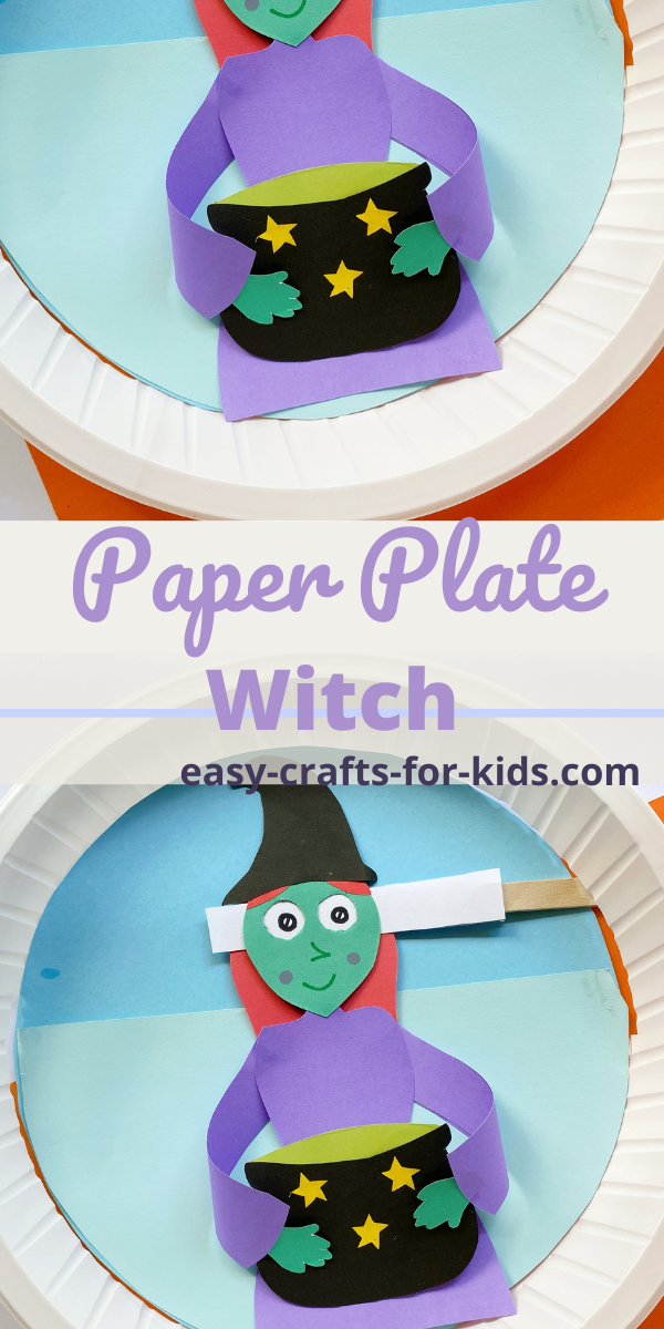 Paper Plate Witch with Rolling Eyes