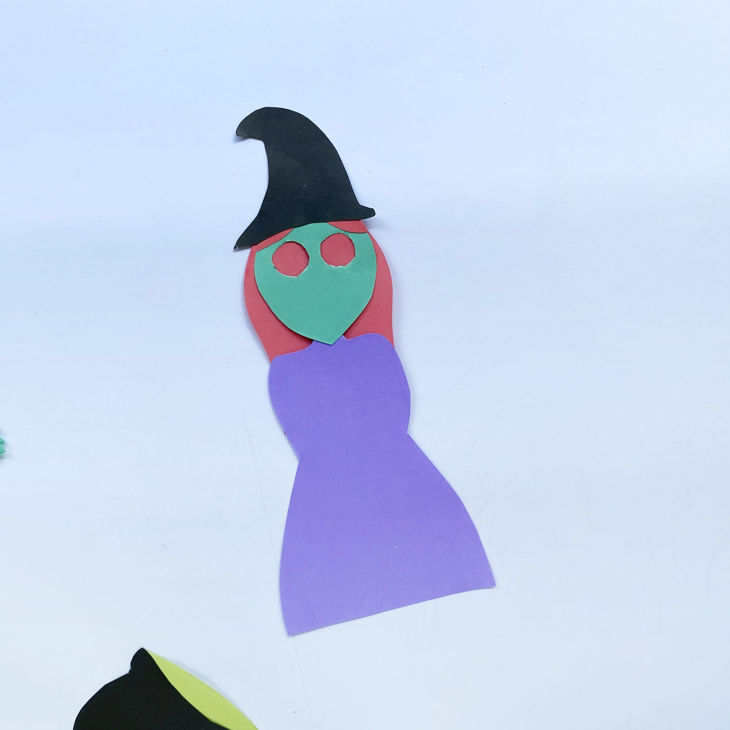 paper witch with dress craft