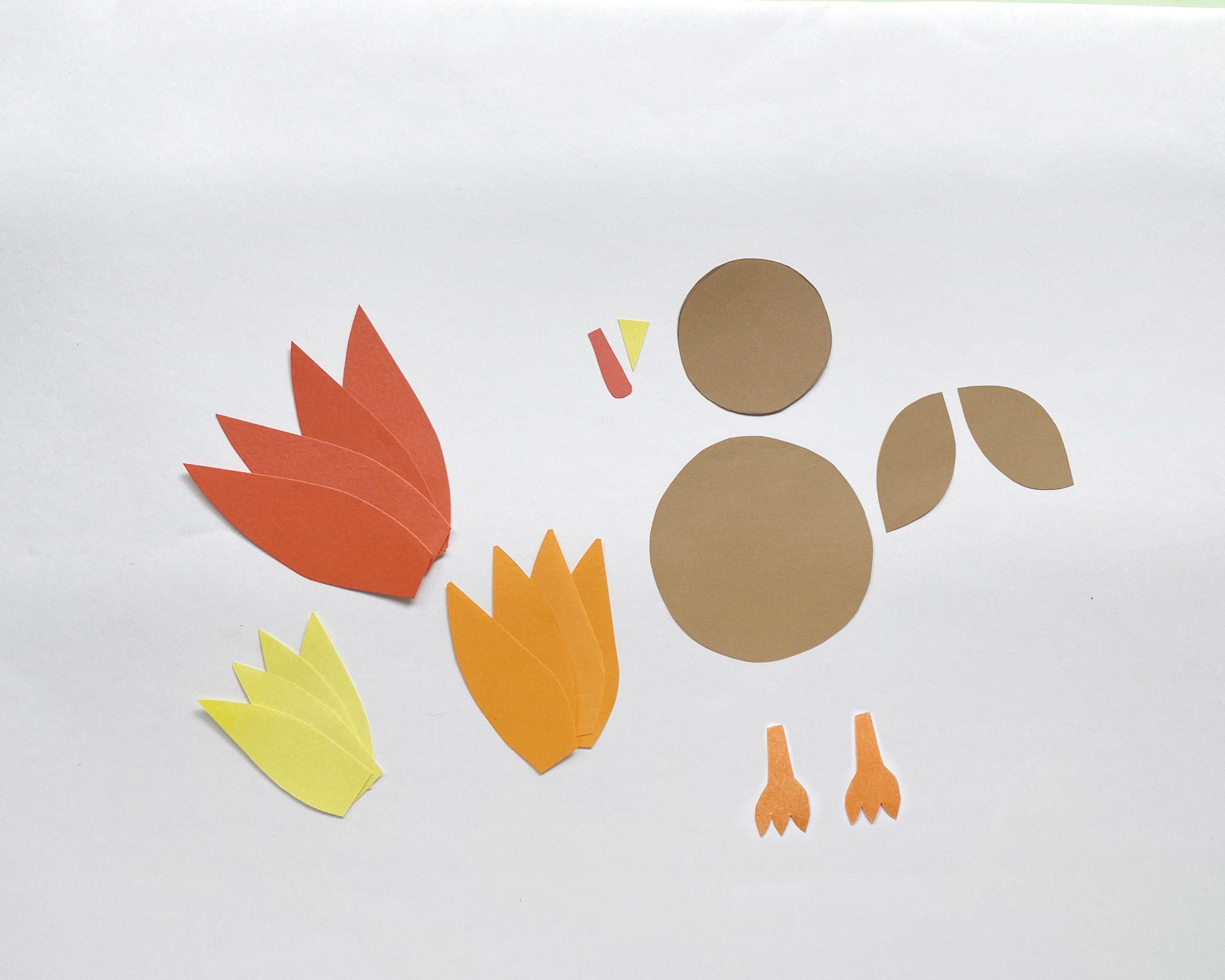 paper turkey craft supplies