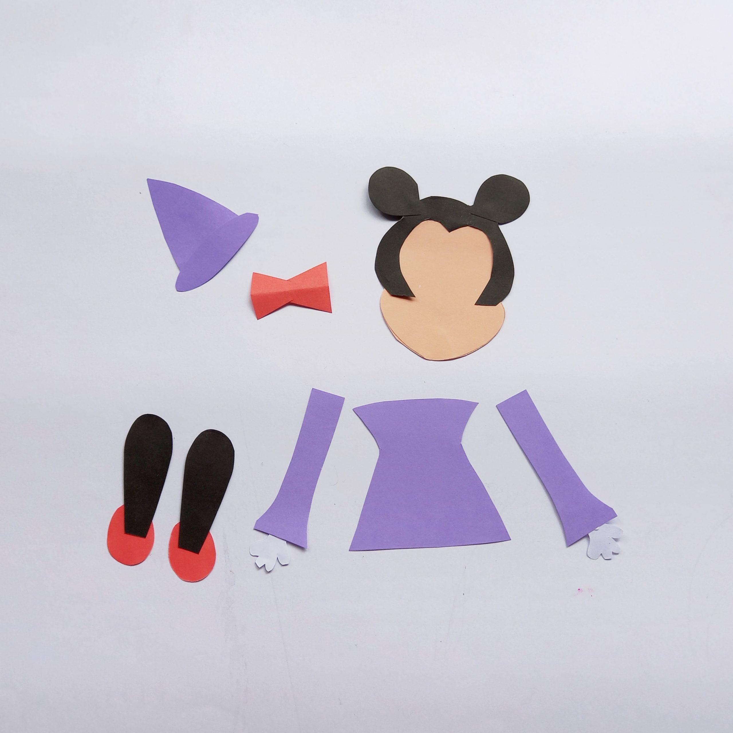 Minnie mouse halloween craft process