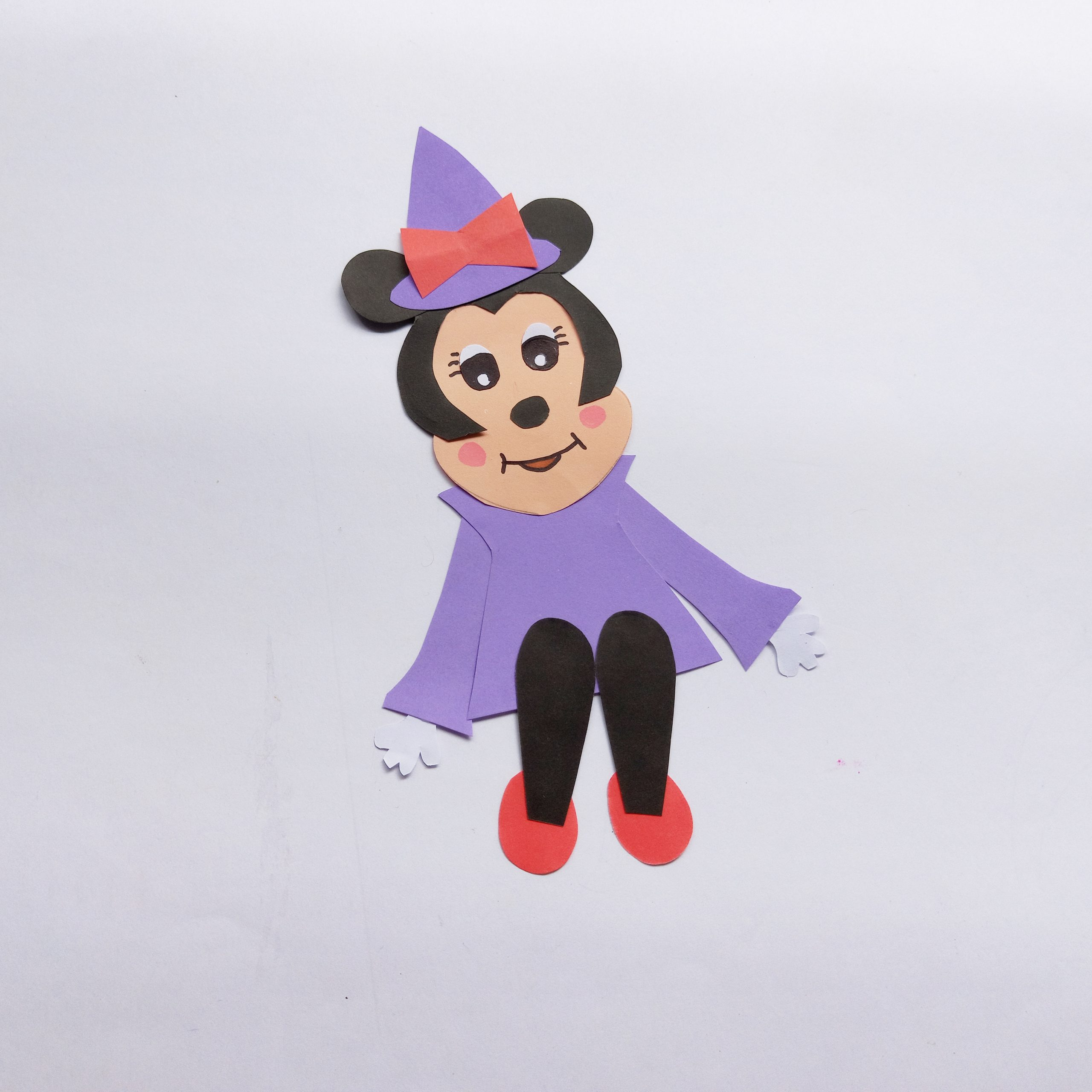 halloween minnie mouse witch craft process