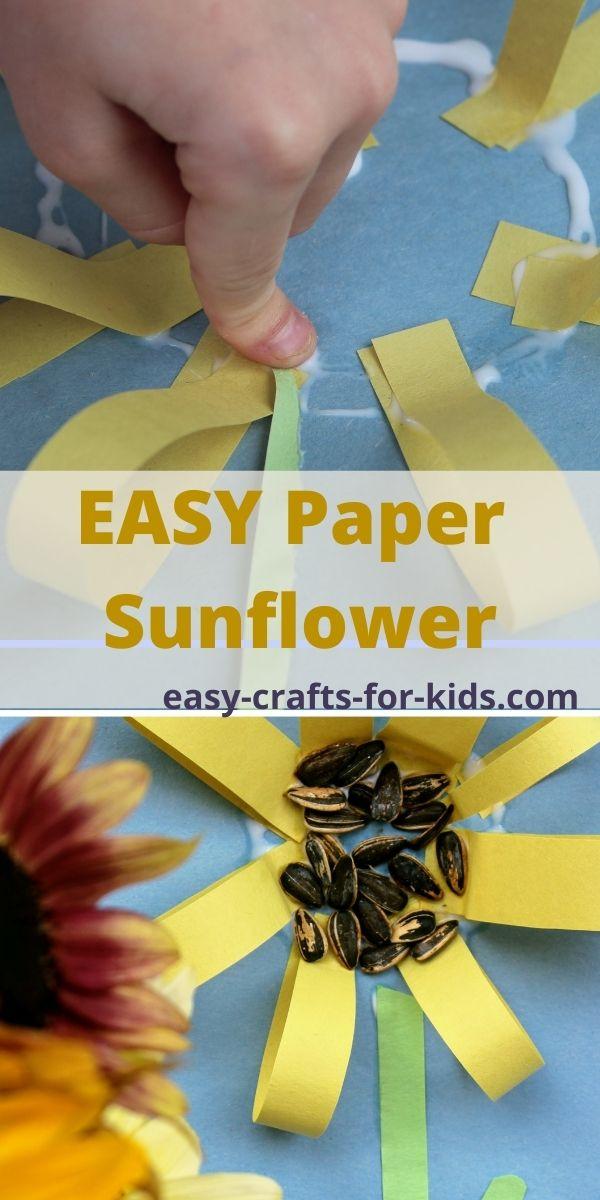 Sunflower Paper Craft for Preschool