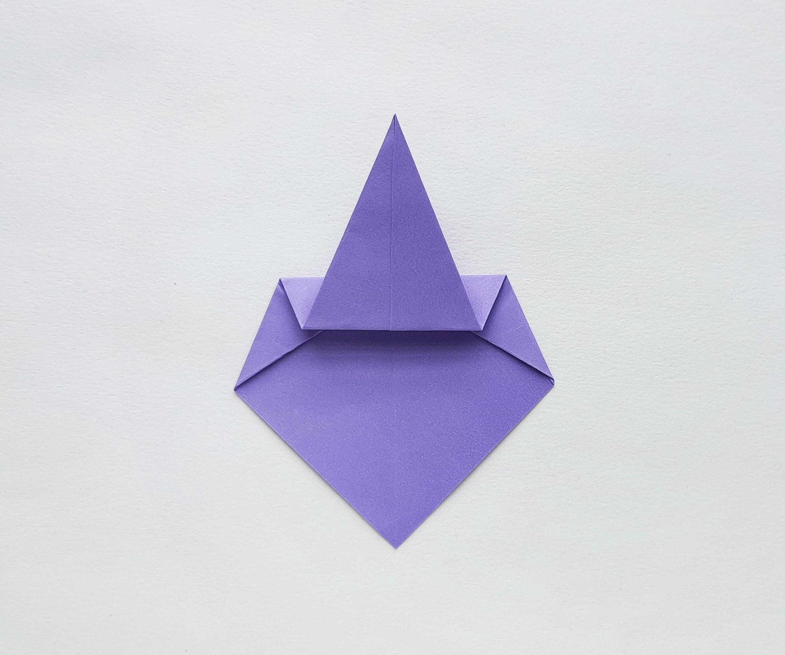 witch halloween origami craft procedure