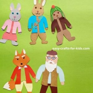 easy peter rabbit and friends puppets