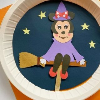 minnie mouse paper plate craft
