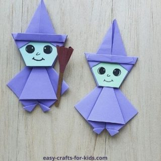 origami witch instructions