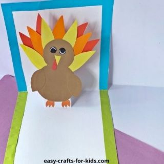 thanksgiving pop up card with turkey