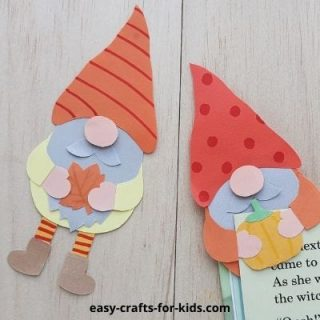 Autumn gnome craft for kids