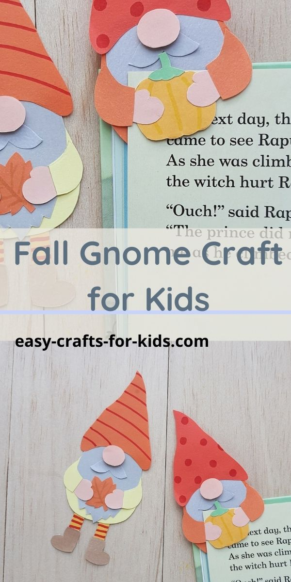 Fall Gnome Craft with Paper