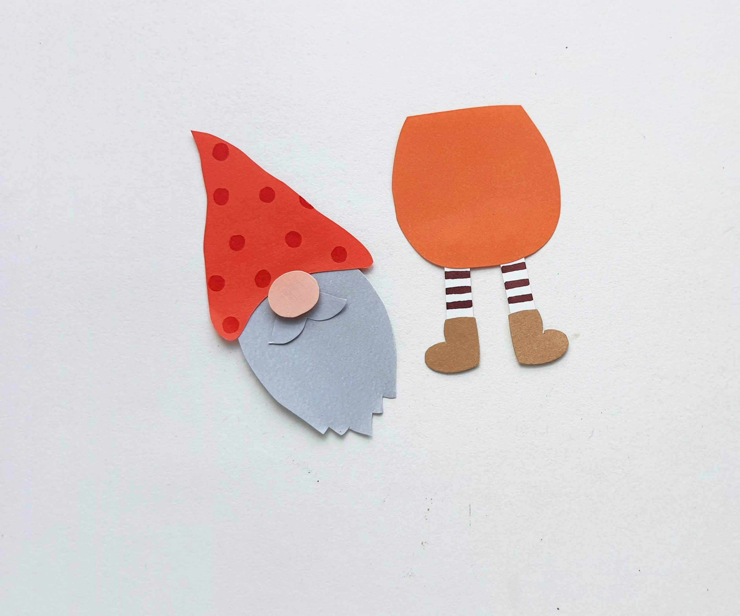 fall gnome paper craft step by step
