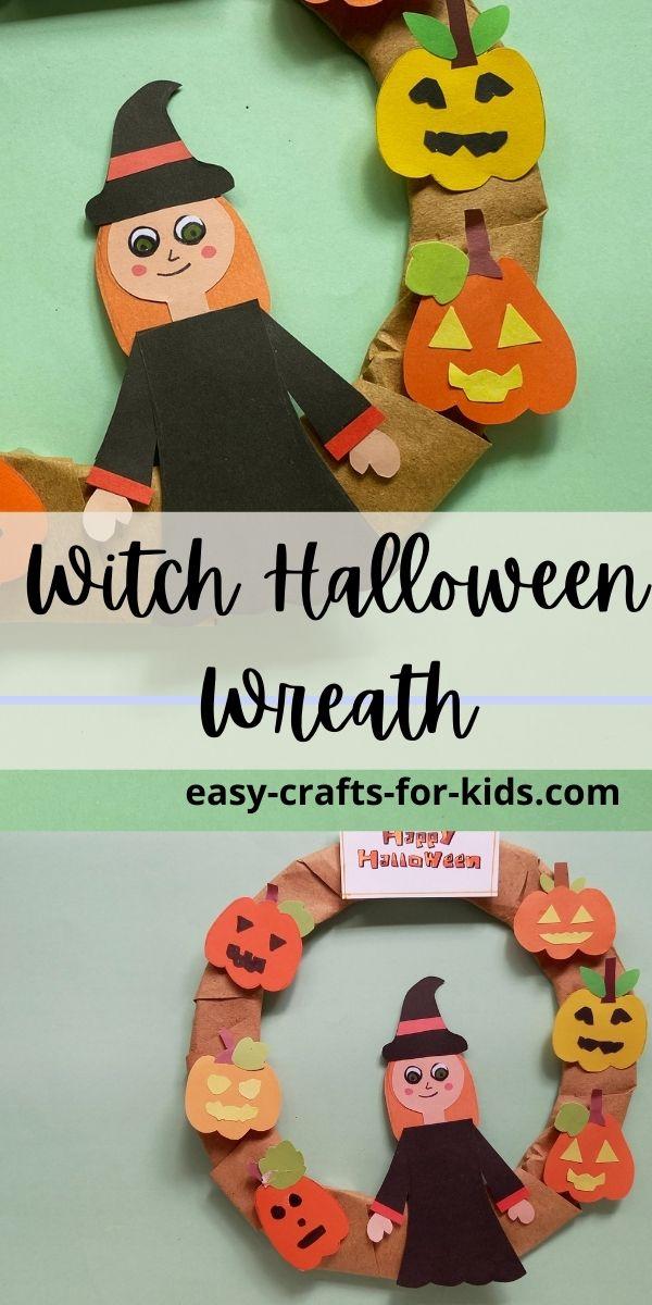 Halloween Witch Wreath Craft