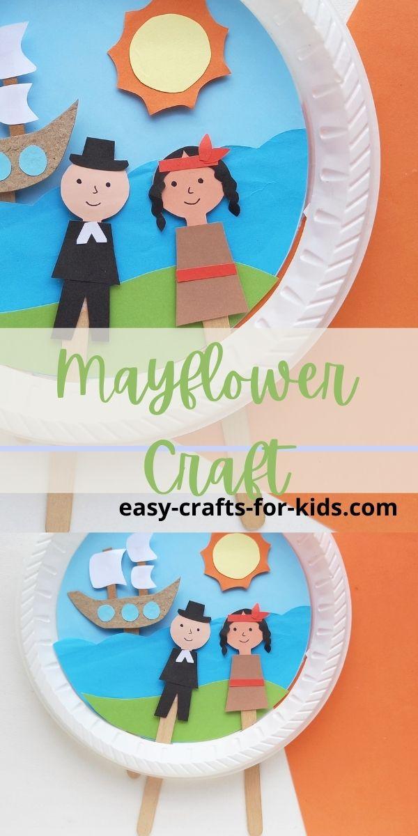 Mayflower Thanksgiving Craft with Pilgrim People