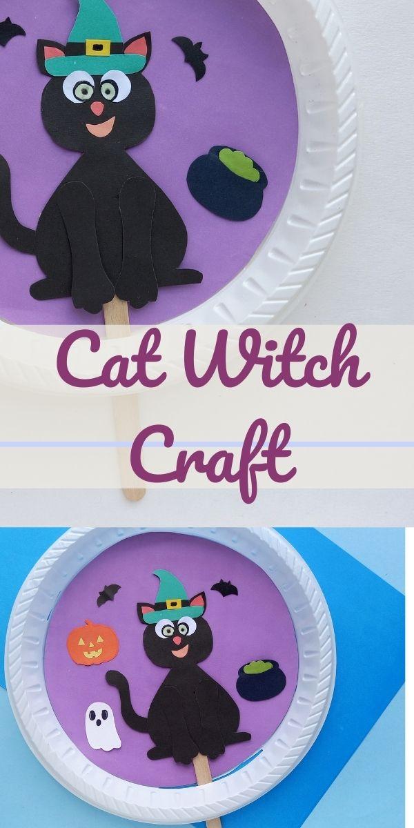 Paper Plate Cat Witch Craft
