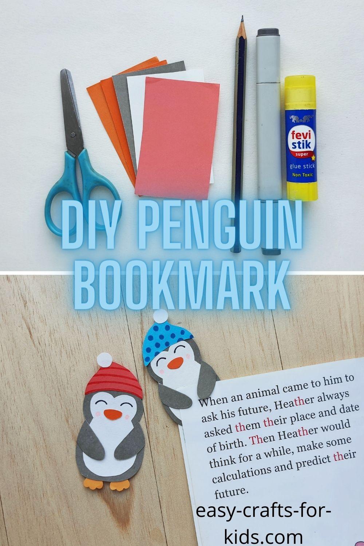Penguin Bookmark Craft for Kids