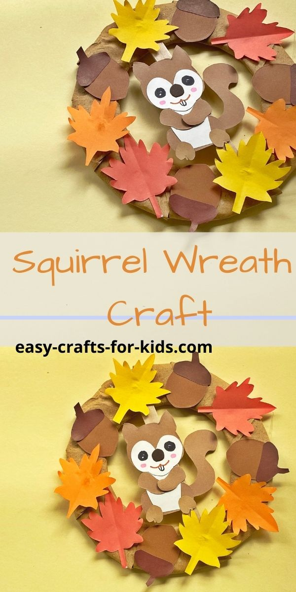 Squirrel Fall Wreath Craft for Kids