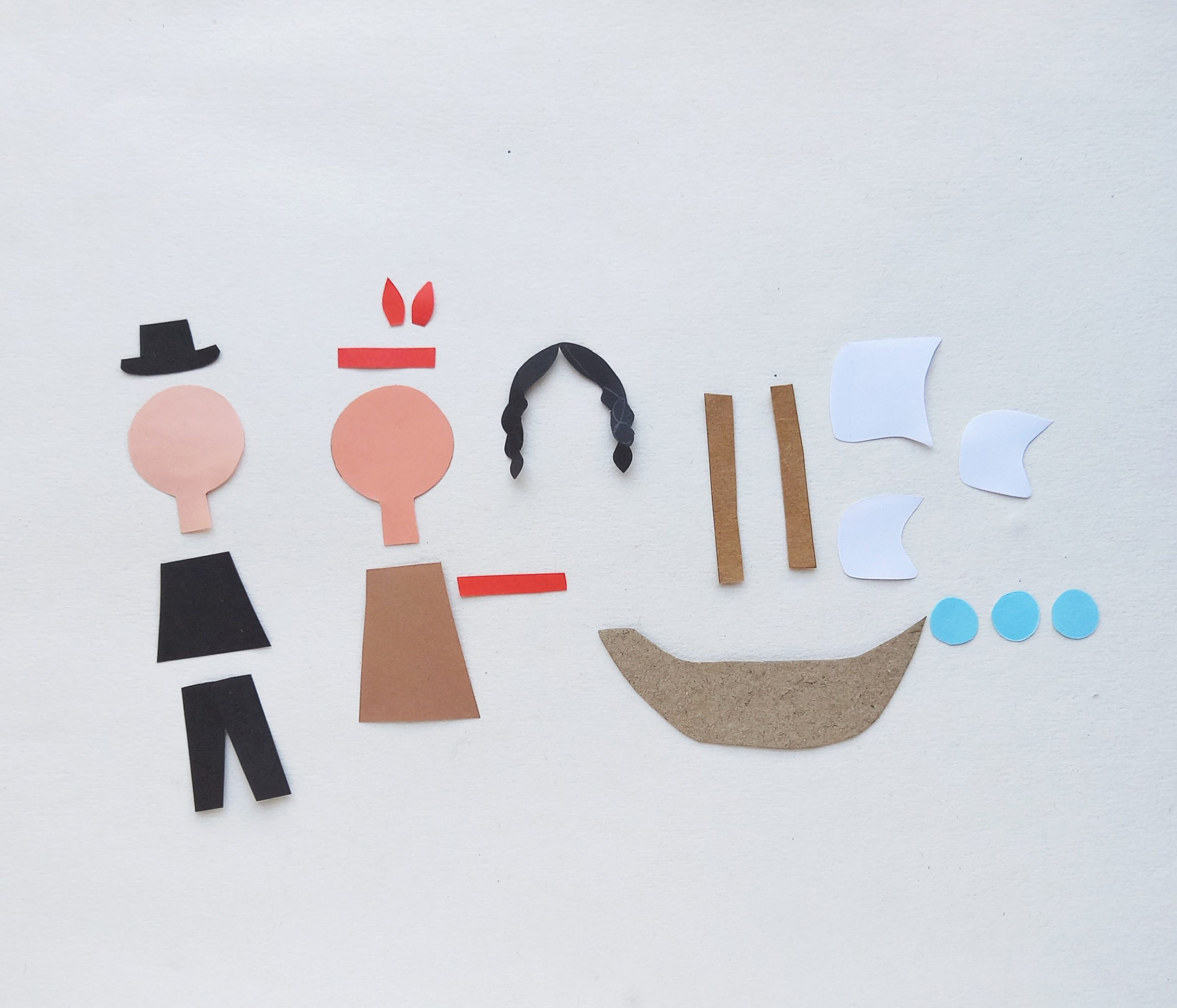 how to make a mayflower thanksgiving paper plate craft