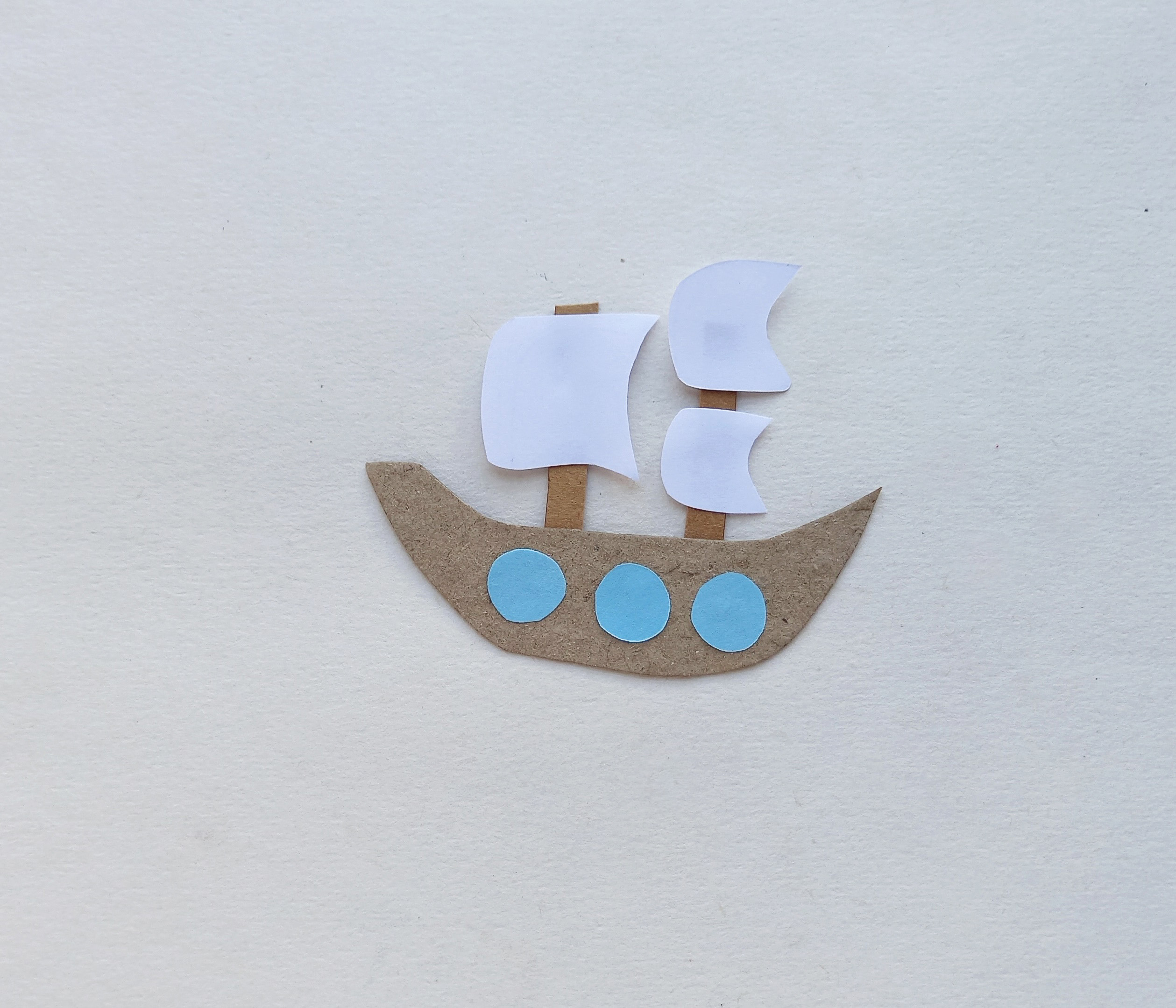 thanksgiving mayflower ship craft with paper