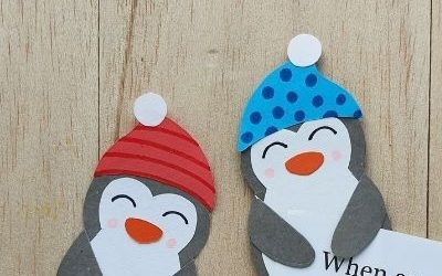 diy penguin bookmark for kids