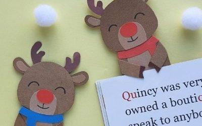 rudolph christmas bookmark craft