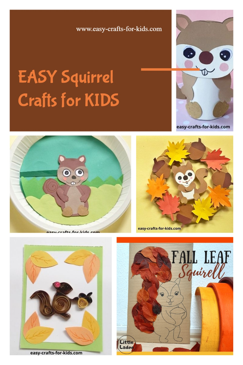 easy squirrel crafts for kids