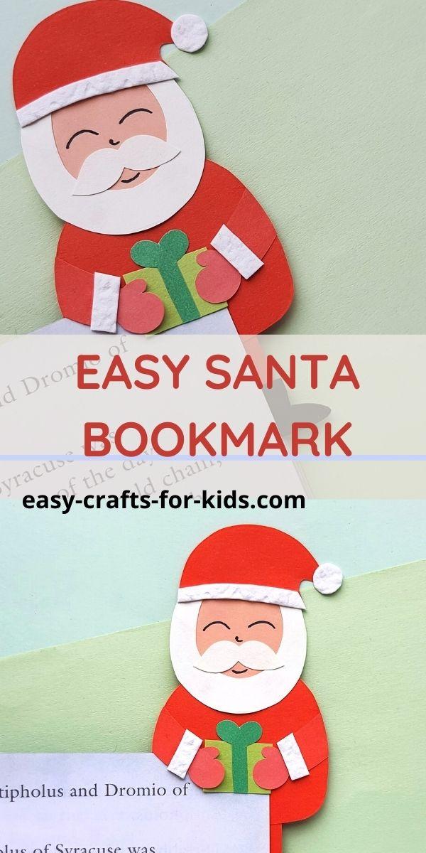 DIY Santa Bookmarks