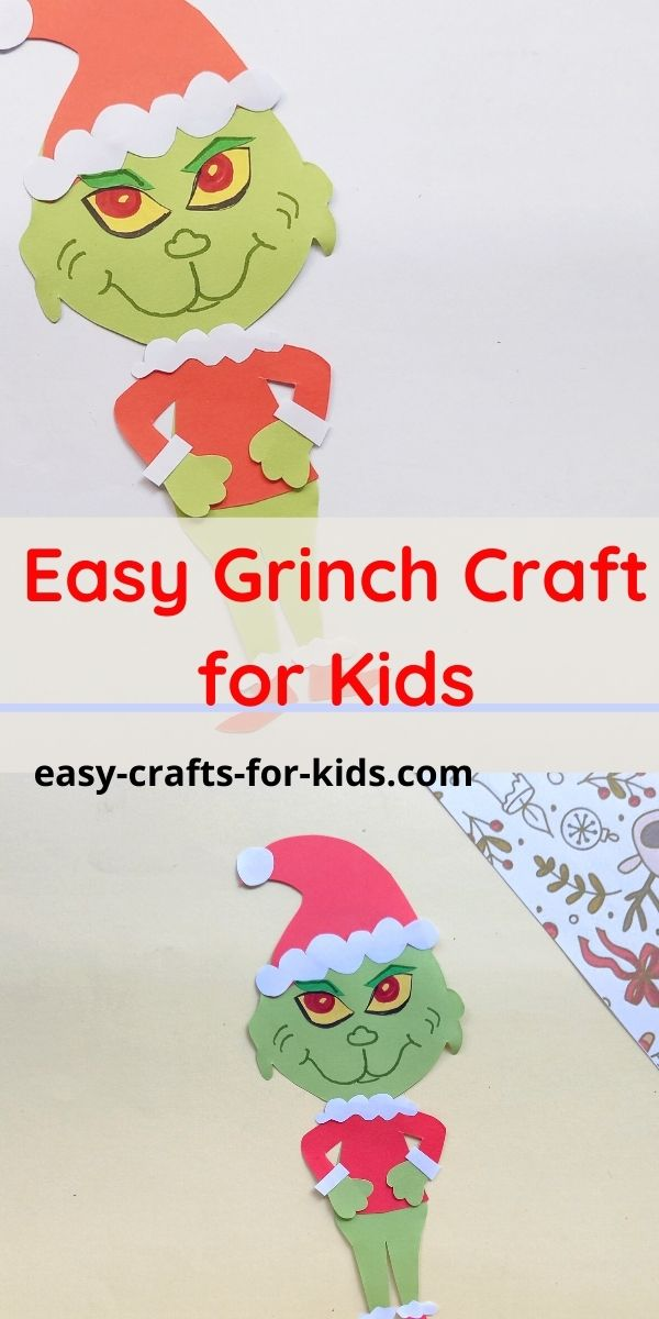 Grinch Craft with Paper