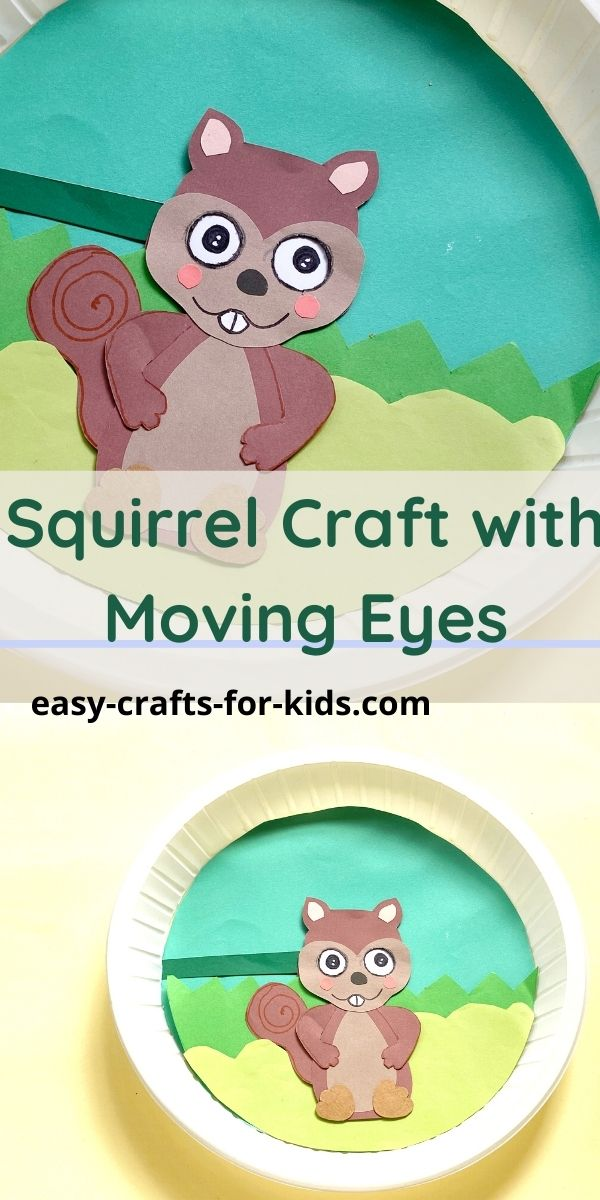 Paper Plate Squirrel Craft with Moving Eyes
