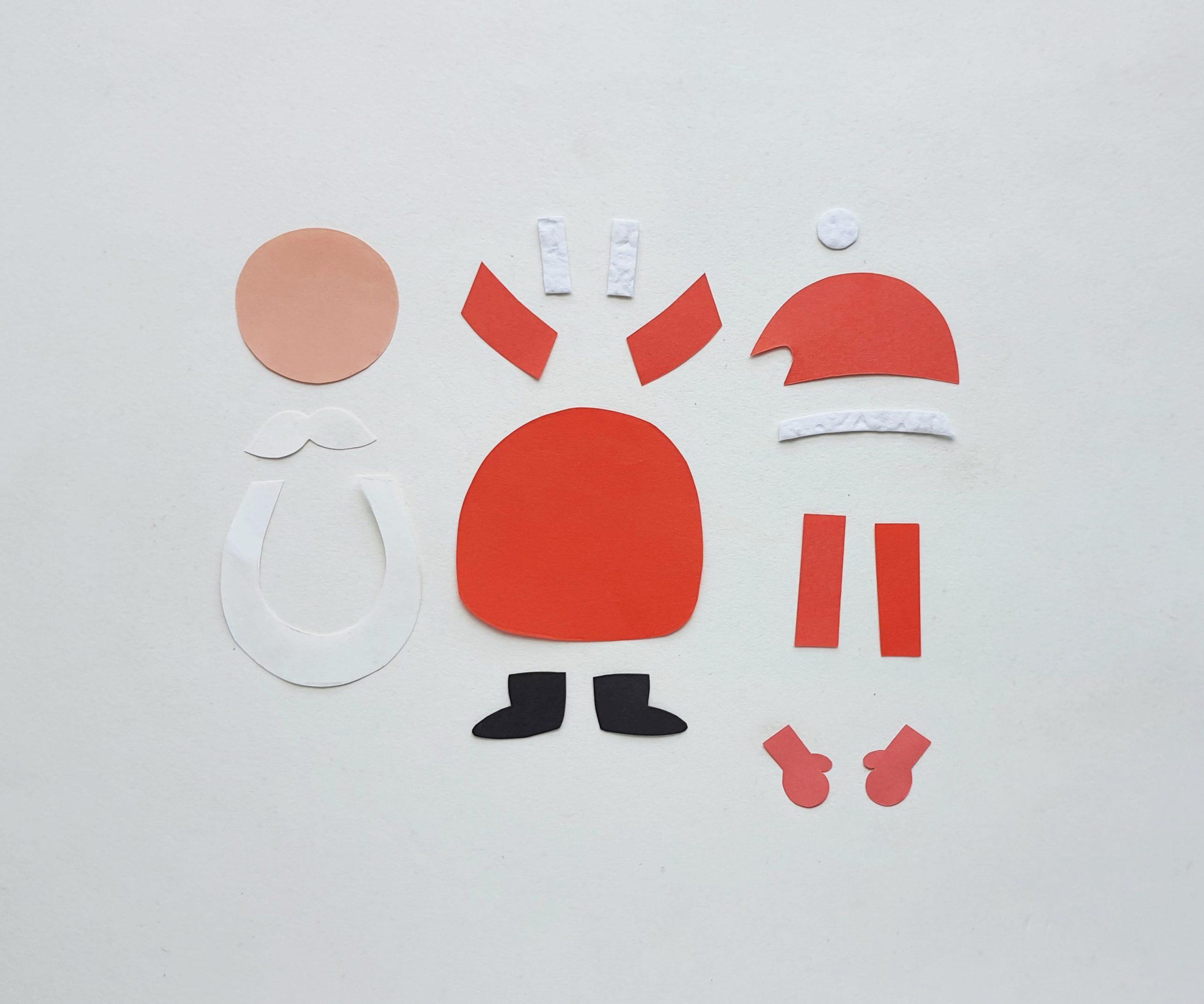 santa claus bookmark craft supplies