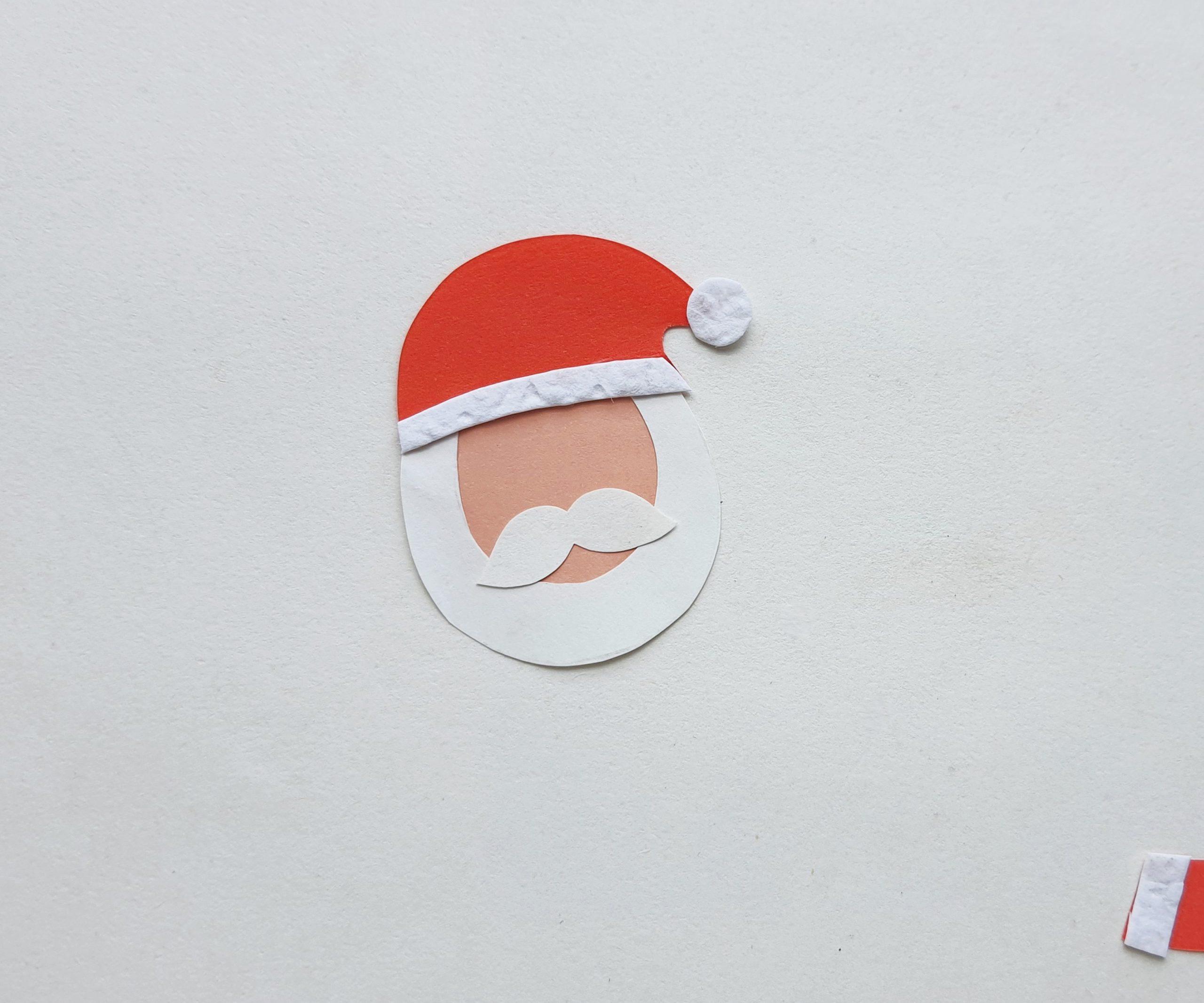how to make a paper Santa Bookmark