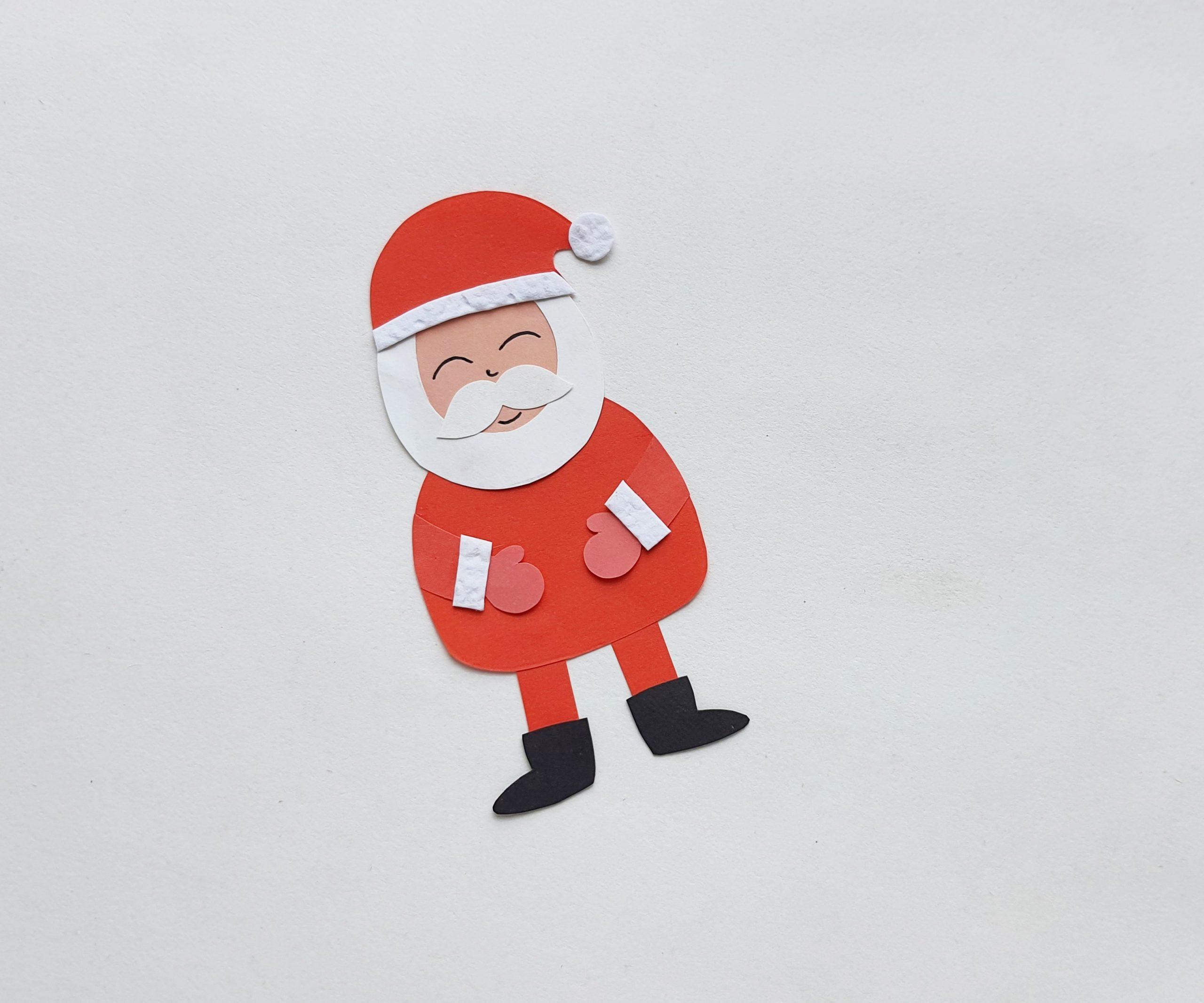 diy christmas santa bookmark
