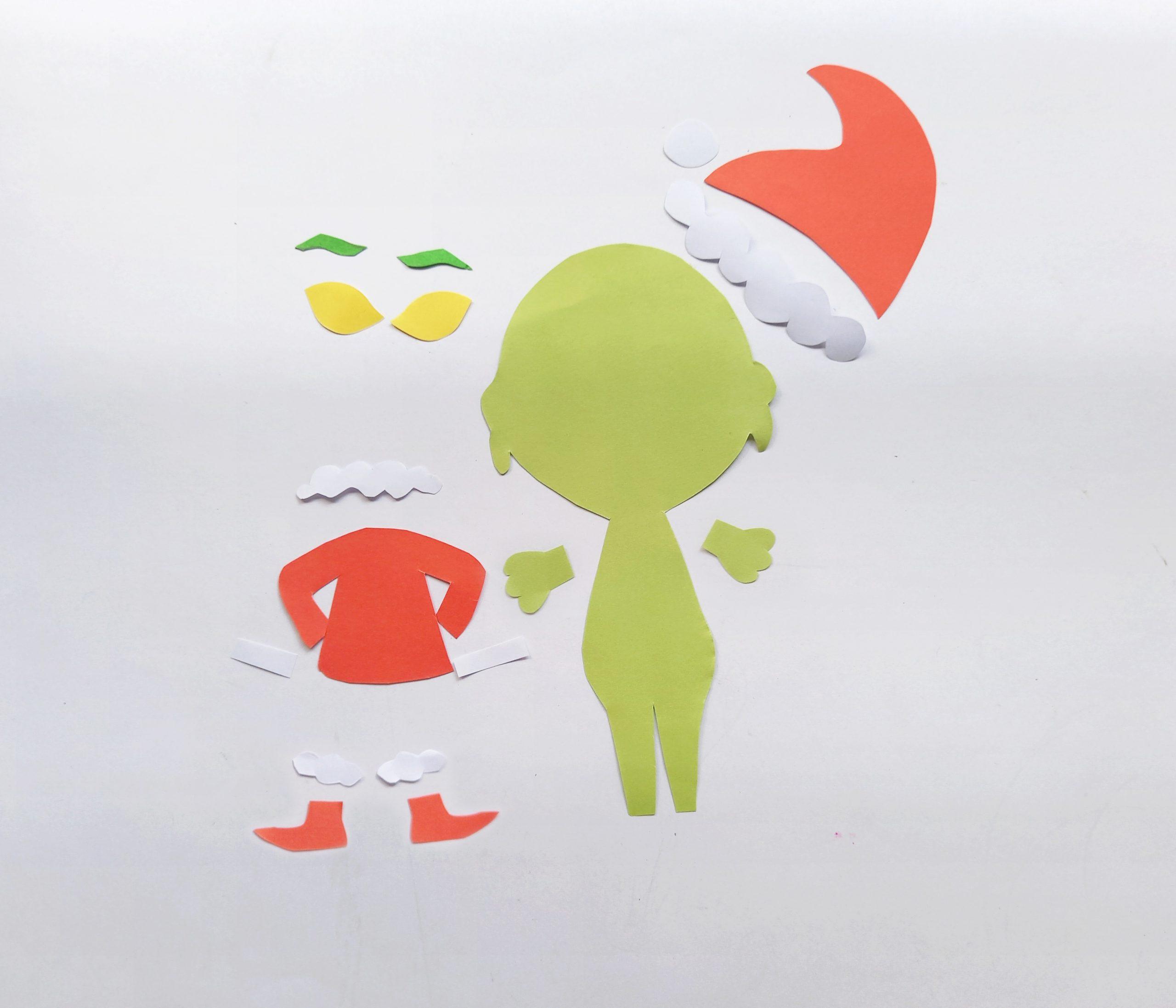 paper grinch craft supplies