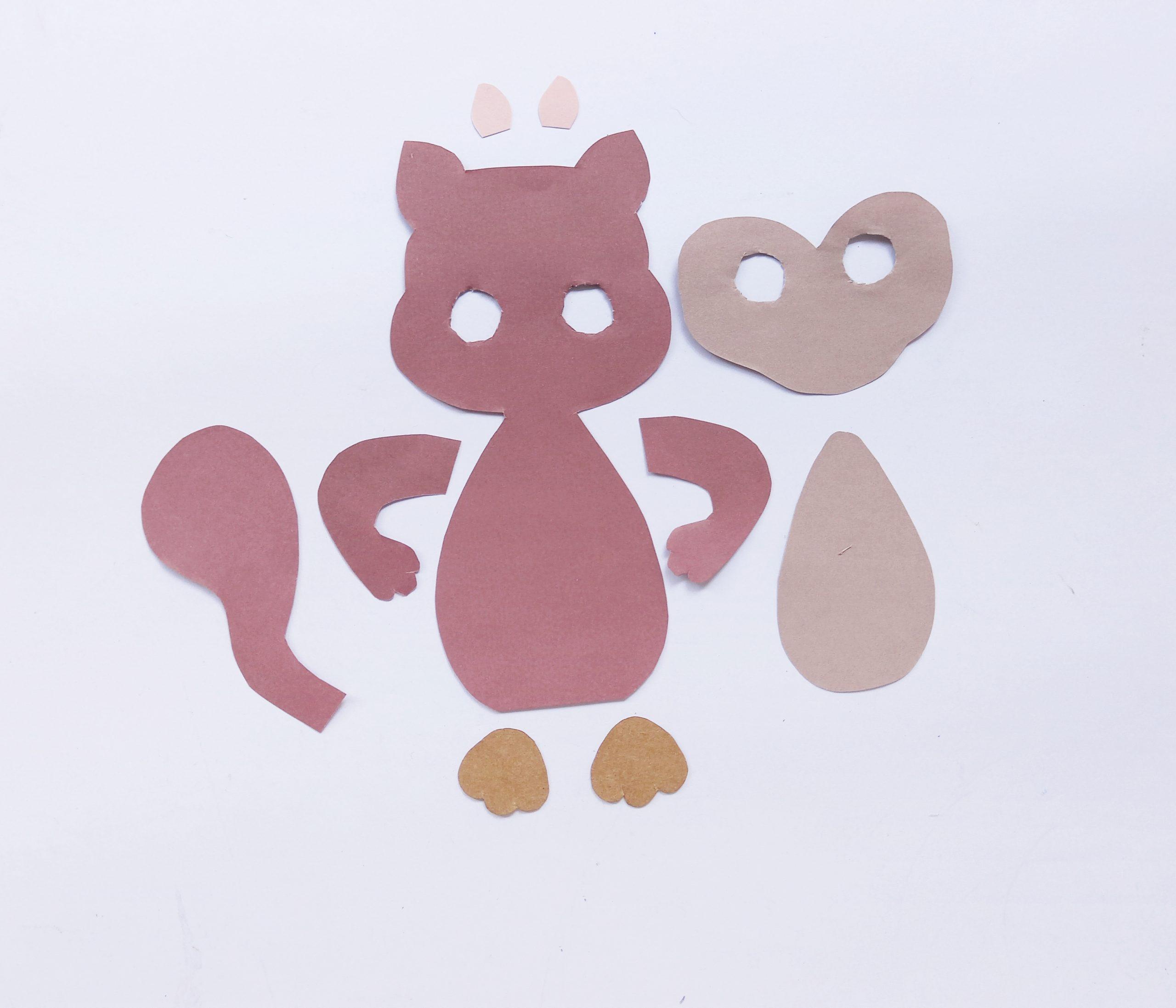 paper plate squirrel craft supplies