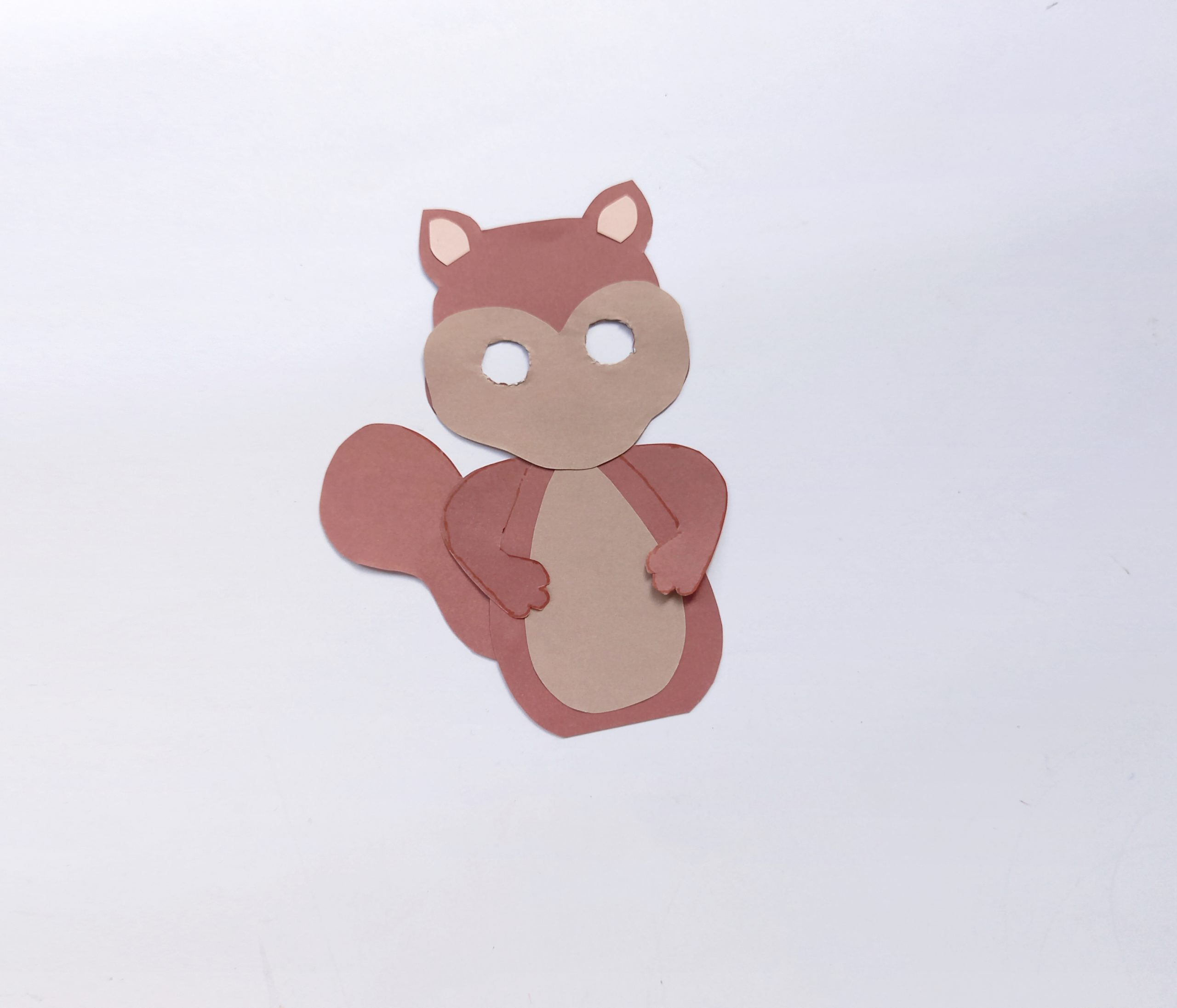 how to make a paper squirrel with moving eyes