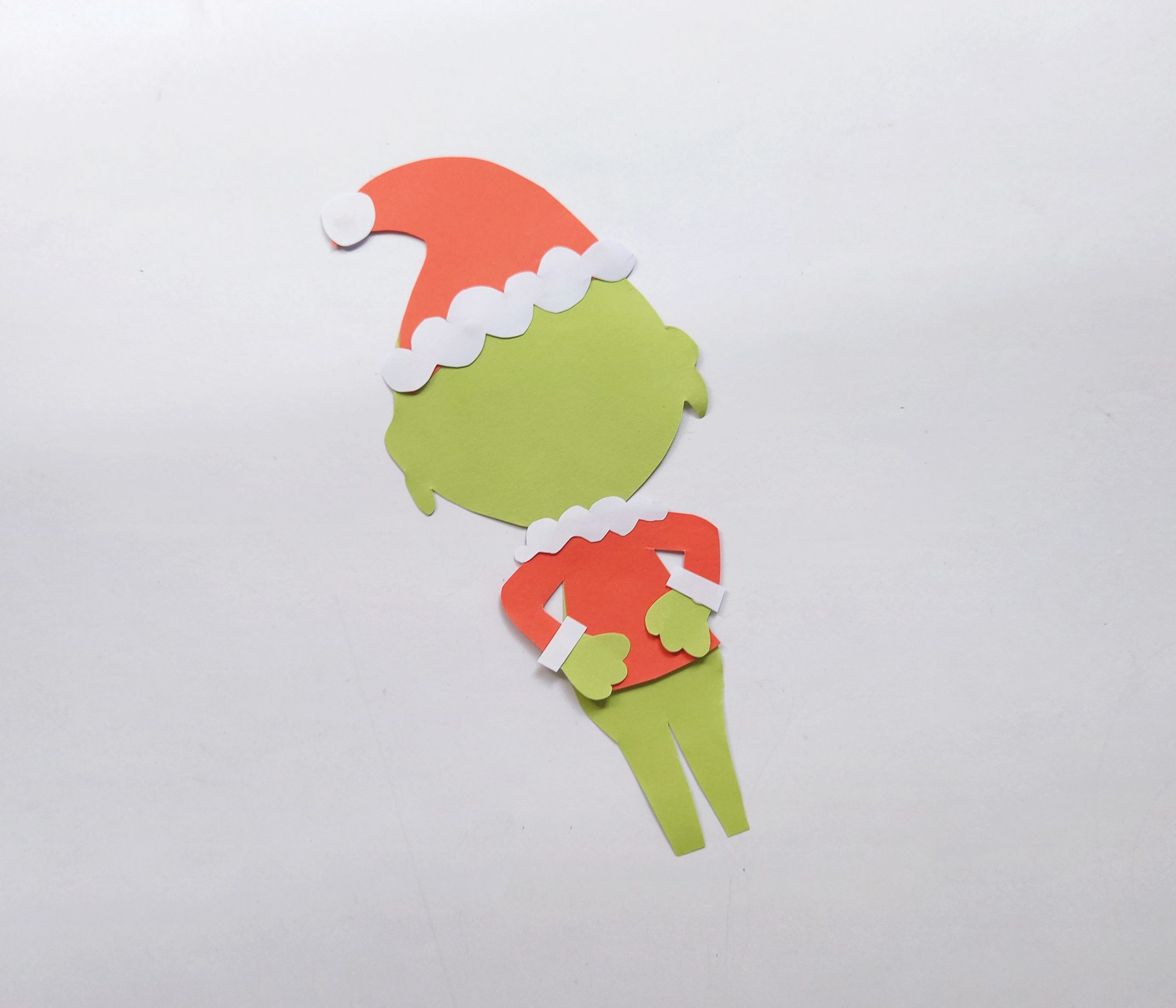 how to make the grinch from paper