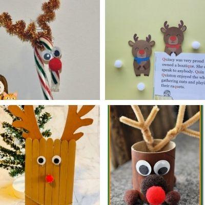 easy Christmas reindeer crafts for kids