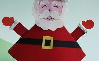 rocking santa claus craft with paper
