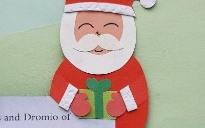 santa claus bookmark craft for kids
