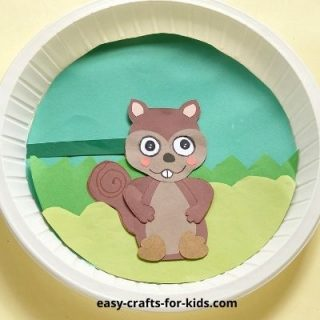squirrel craft with moving eyes